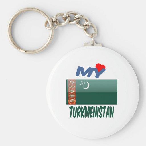 My Love Turkmenistan Key Chain