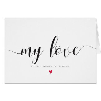 My love, valentines day card
