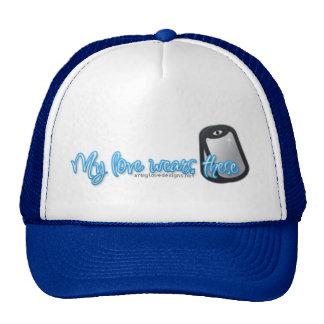 My Love Wears Dog tags Cap