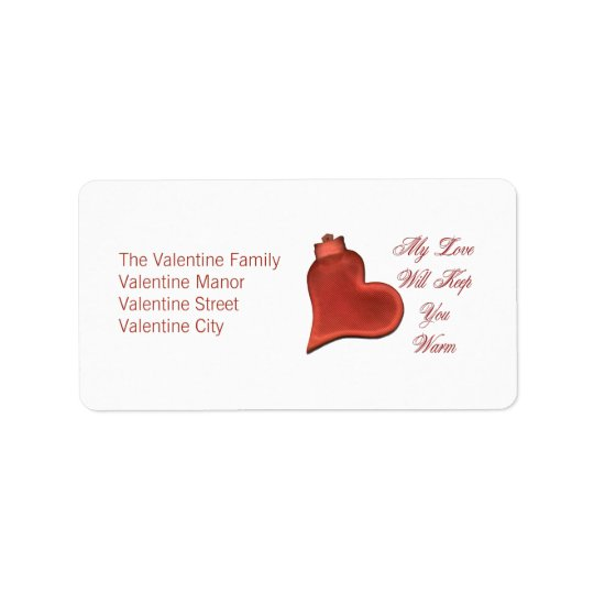 My Love Will Keep You Warm Address Label