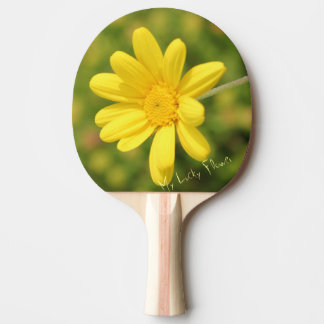 My Lucky Yellow Flower Ping Pong Paddle