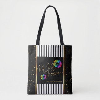 My Makeup Gold Confetti Bag - Rainbow Lips