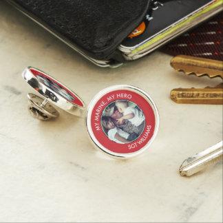 My Marine, My Hero Custom Photo Lapel Pin