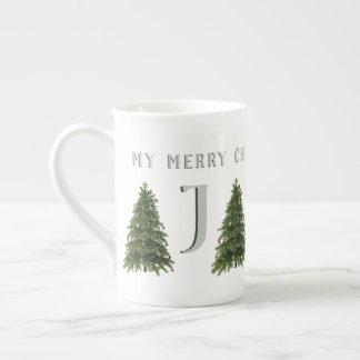 My Merry Christmas Tree Monogrammed Mug