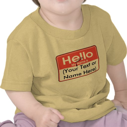 My Middle Name is (Blank) Custom and Personalized T-shirts
