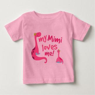 My Mimi Loves Me Dinosaur Baby T-Shirt