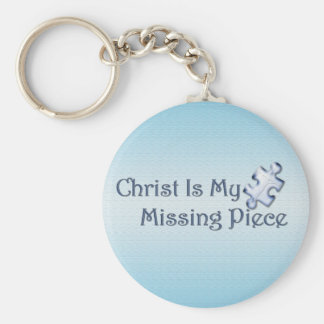 My Missing Piece Religious Basic Round Button Key Ring