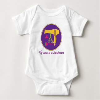 My mom is a hairdresser -Hairstyles tools Baby Bodysuit