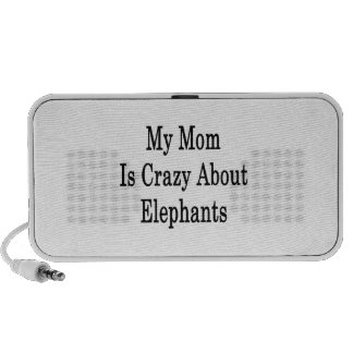 My Mom Is Crazy About Elephants Mini Speakers