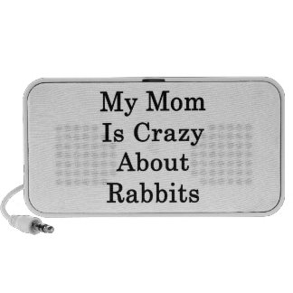 My Mom Is Crazy About Rabbits Notebook Speakers