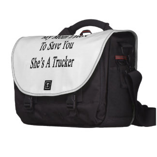 My Mom Is Here To Save You She's A Trucker Laptop Computer Bag