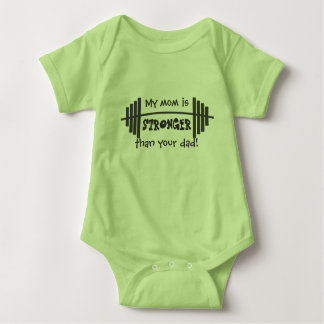 My Mom is Stronger Than Your Dad Baby Bodysuit