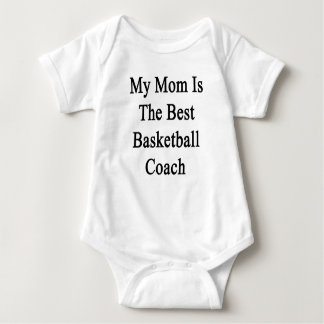 My Mom Is The Best Basketball Coach Baby Bodysuit