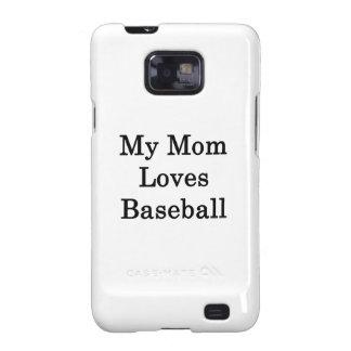 My Mom Loves Baseball Samsung Galaxy S2 Case