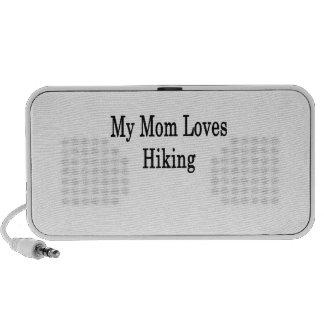 My Mom Loves Hiking Notebook Speakers