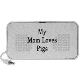 My Mom Loves Pigs Portable Speaker