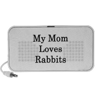 My Mom Loves Rabbits Laptop Speakers