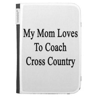 My Mom Loves To Coach Cross Country Kindle 3 Cover