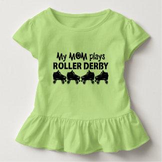 My Mom plays Roller Derby, Roller Skating Toddler T-Shirt