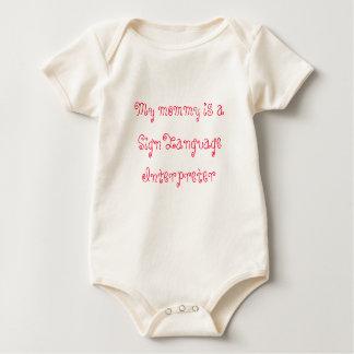My mommy is a Sign Language Interpreter Baby Bodysuit