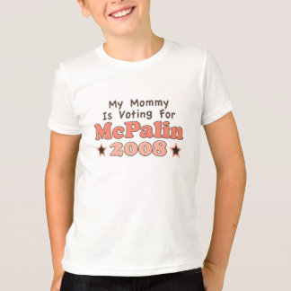 My Mommy Is Voting For McPalin 2008 Kids T shirt
