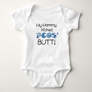My Mommy Kicked PCOS' Butt! Baby Boy Baby Bodysuit