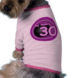 My Mom's 30 pink swirl Doggie T-shirt