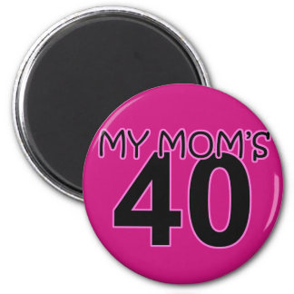 My Mom's 40 Magnets