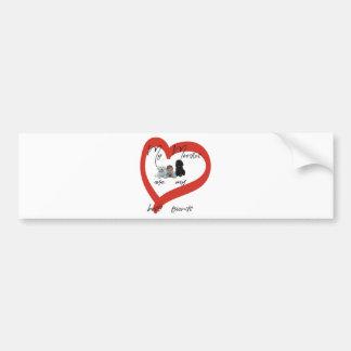 My Moodles are my Best Friends Bumper Sticker