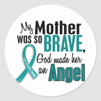 My Mother Is An Angel 1 Ovarian Cancer Stickers