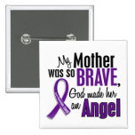 My Mother Is An Angel Pancreatic Cancer 15 Cm Square Badge