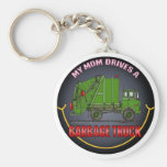 My Mum Drives A Garbage Truck Green Key Chain