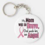 My Mum Is An Angel Breast Cancer Basic Round Button Key Ring