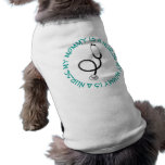 My Mummy Is A Nurse Gift Tee Sleeveless Dog Shirt