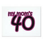 My Mum's 40 11 Cm X 14 Cm Invitation Card