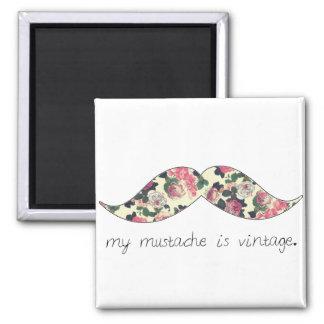 my mustache is vintage magnet