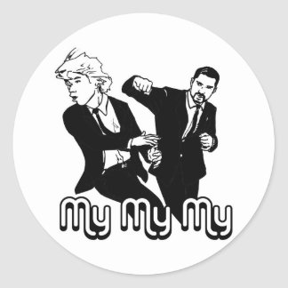 My My My Round Sticker