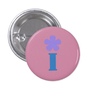 My name begins with I and I like flowers 3 Cm Round Badge