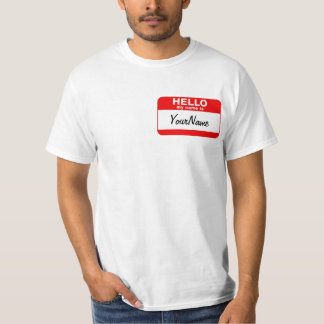 My Name Is Blank Custom Nametag T Shirt Red