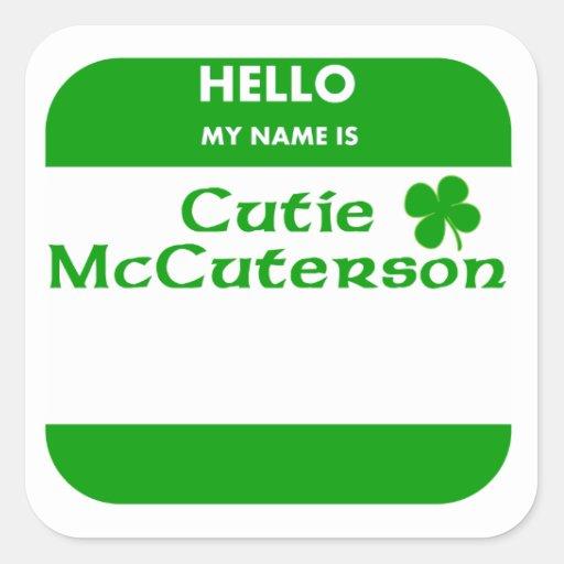 My Name Is Cutie McCuterson Sticker
