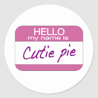 My Name is Cutie Pie Stickers