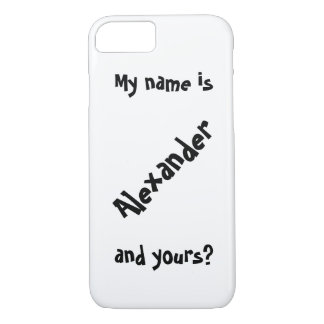 my name is iPhone 7 case