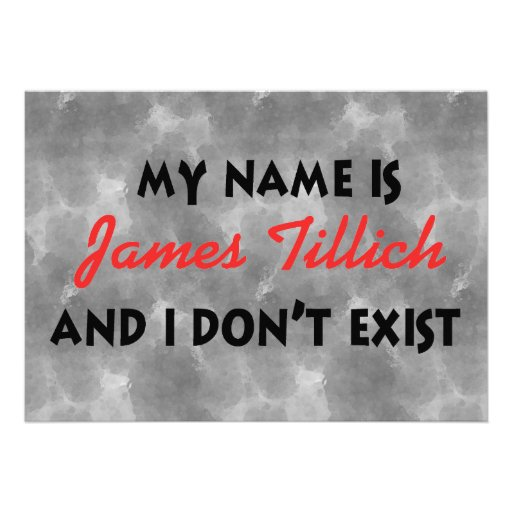 My Name Is James Tillich Personalized Announcement