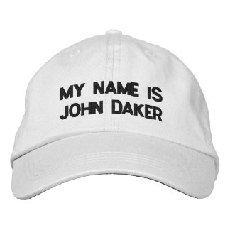MY NAME IS JOHN DAKER -Personalized Adjustable Hat