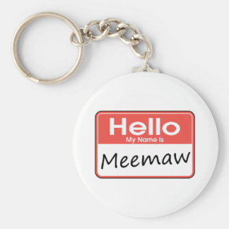 My Name is Meemaw Key Ring