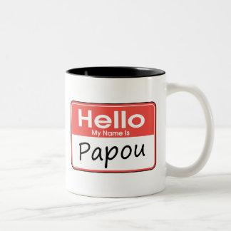 My Name is Papou Two-Tone Coffee Mug