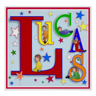 "My Name - ""Lucas"" Print"