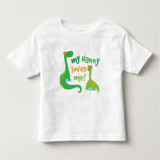 My Nanny Loves Me Dinosaur Toddler T-Shirt