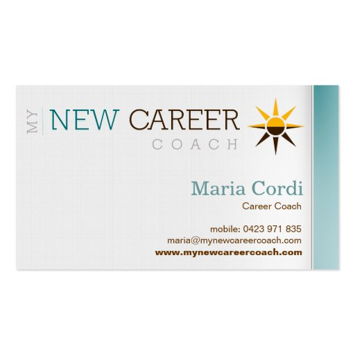 My New Career Coach - Custom Business Card 3