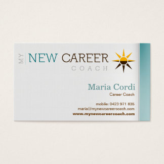 My New Career Coach - Custom Business Card 3